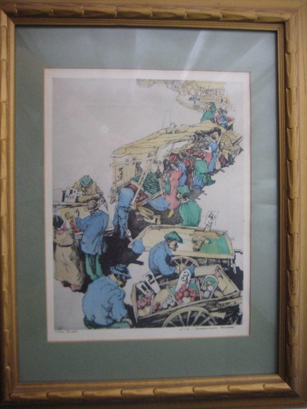 2: Saul Raskin Watercolor Lithograph New York City