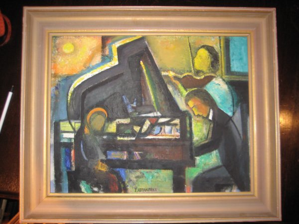 3: Israel Abramofsky Oil Painting signed listed