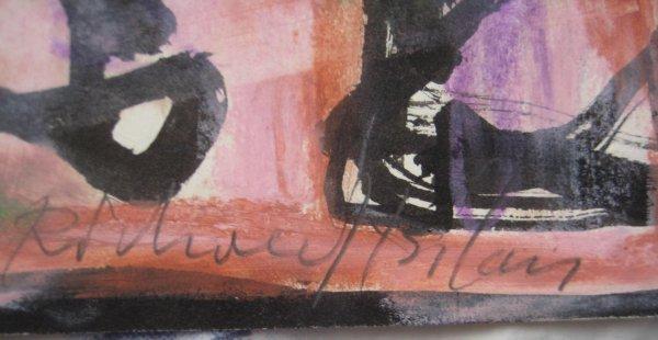 8: Richard Bilan Gouache Painting French Israeli