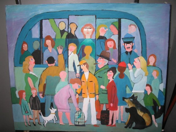 10: Hajo Malek oil painting German outsider folk art