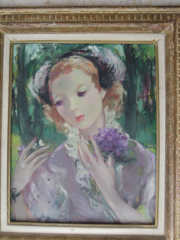 11: Jeanette Deseglise French Naïve oil painting signed