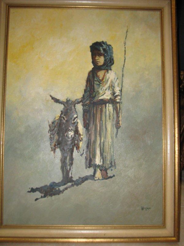 12: Weintraub oil painting American Israeli 1960