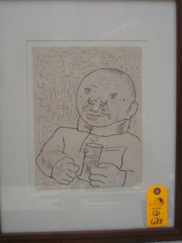 15: George Grosz Lithograph
