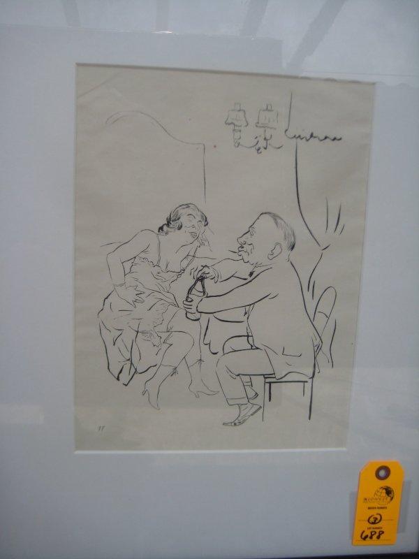 16: George Grosz Lithograph