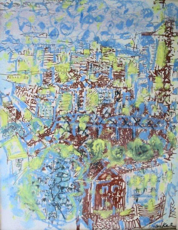 19: Yankel Kikoine Paris Eiffel Tower signed painting