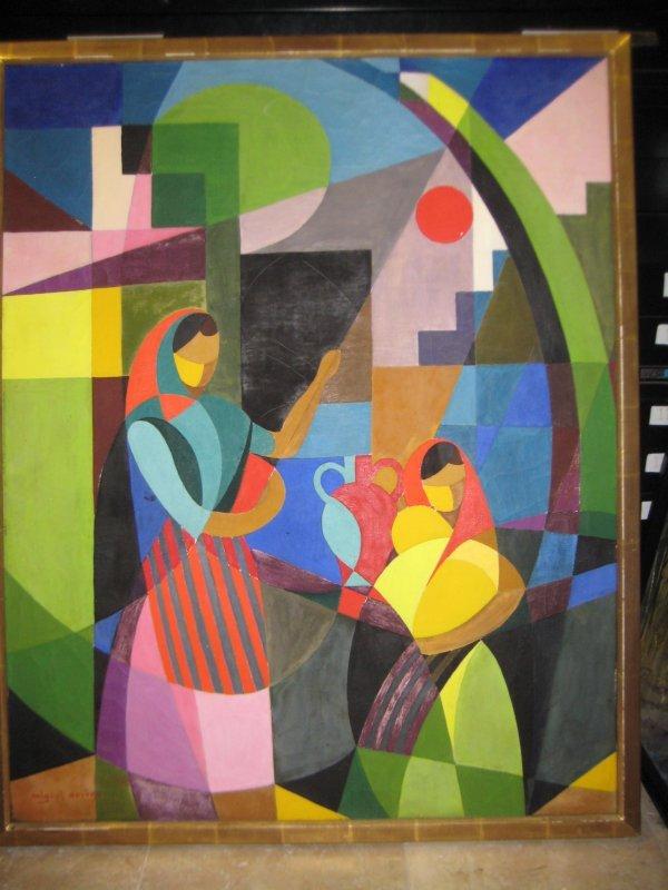 23: Miguel Deveze French Cubist oil painting 30s