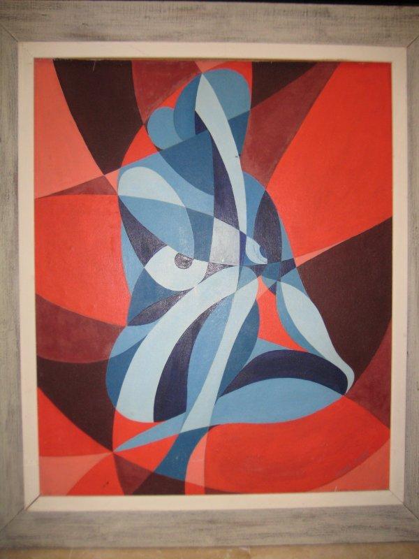 24: Miguel Deveze French Cubist oil painting 30s