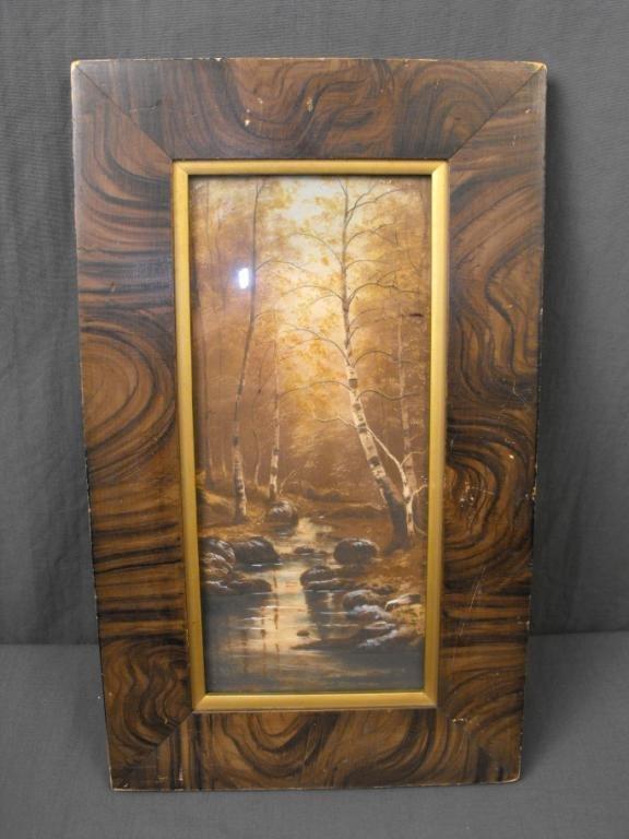 5: Antique Woodland Scene in Frame
