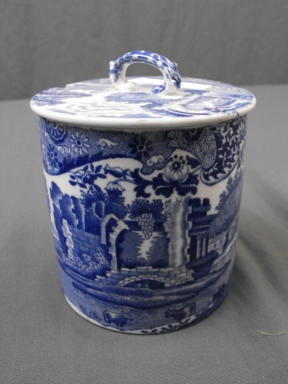 14: Spode ITALIAN Pattern Porcelain Relish Jar