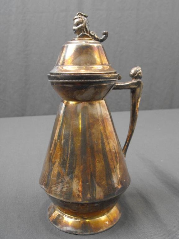 15: Victorian Silverplated Syrup Server
