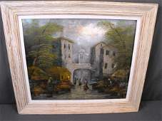 275 Listed Artist Neumann Oil On Canvas Euro Scene