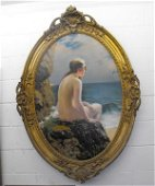 473: Fine Antique Nude Oil by Piffard