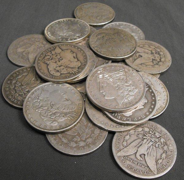 1L: La Jolla Estate Fresh Coinage- 20 Morgan Silver Dol