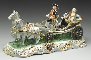 4D: Porcelain Carriage and Riders-