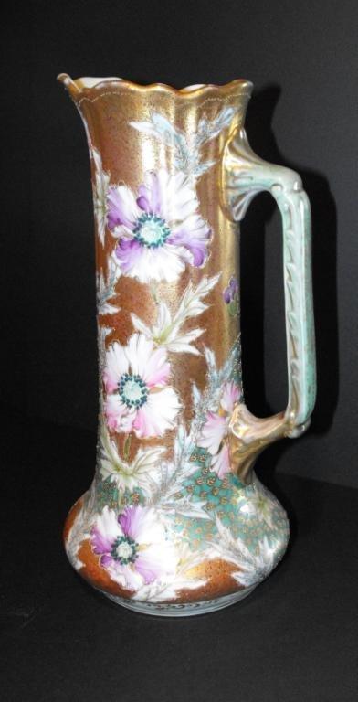 4K: Elegant Porcelain Ewer Floral-k1oaytg