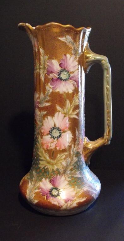 3K: Tall Victorian Era Porcelain Ewer