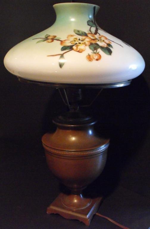 5K: Hand Painted Handel Lamp