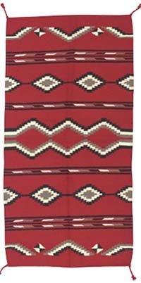 4B: Red Wool Native American Style Rug