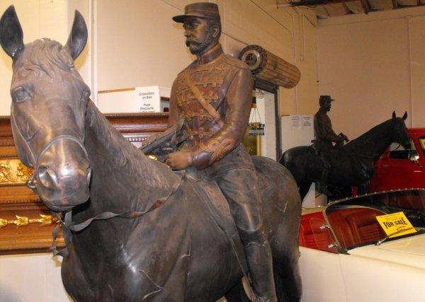 3: Pair of Life Size Bronze Civil War Horse & Riders