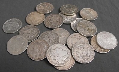 2J: Lot of 20 1878-1921 Mixed Date Silver Dollars