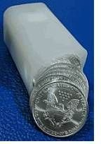 1P: Roll of 1 oz. Silver Eagles-(20) Items