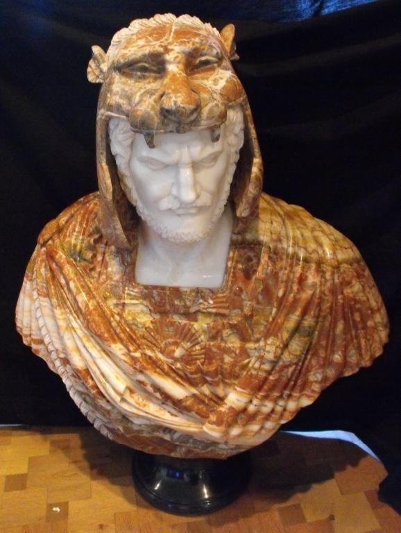 5A: Large Hand Carved Marble Bust