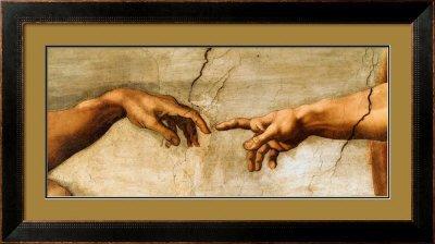5E: The Creation of Adam, c.1510 (detail) Print