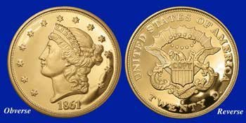 11Z: 1861-O Liberty Proof TRIBUTE COIN