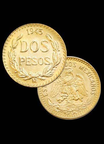 5B: Mexican Gold 2 Peso Coin