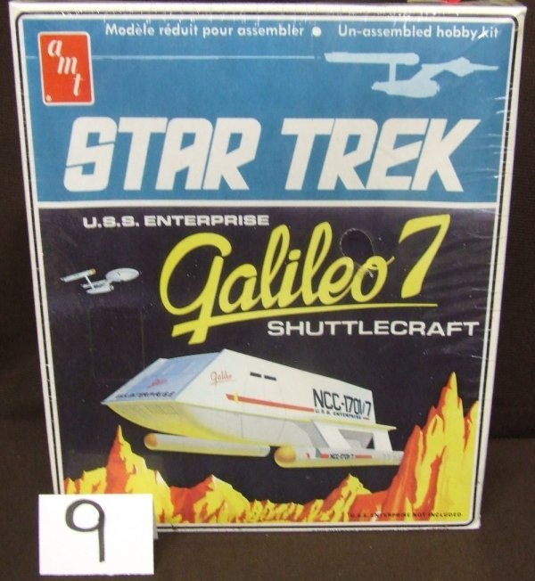 9: Galileo Shuttlecraft Un-assembled Model