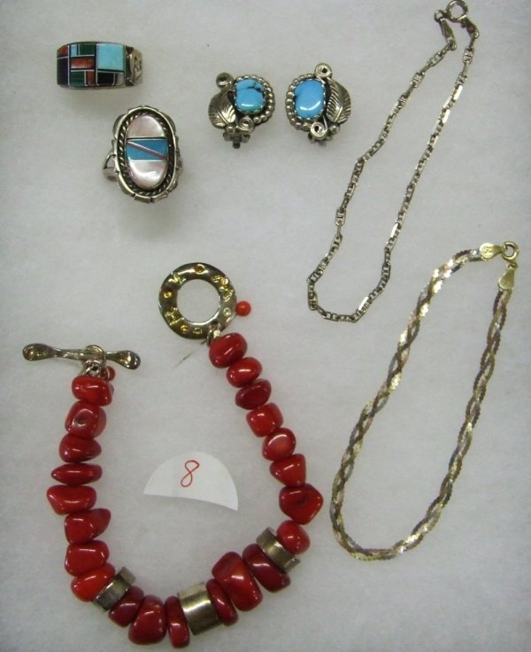 8: Sterling Silver and Turquoise Collection