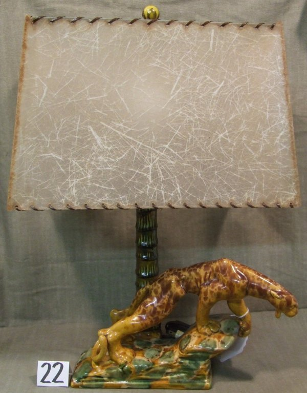 22: Royal Haeger Leopard Lamp with Original Shade