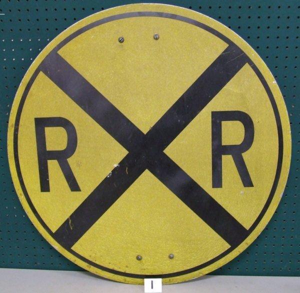 1: Railroad Crossing Sign