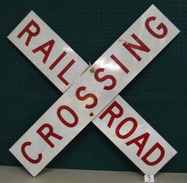 "3: Railroad Crossing ""X"" Shape Sign"
