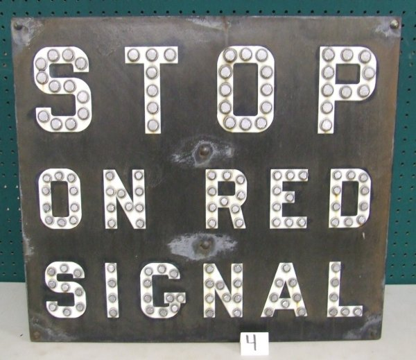 4: Stop on Red Signal Sign