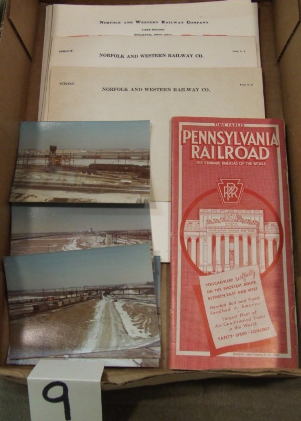9: Norfolk & Western and Pennsylvania RR Paper Items.