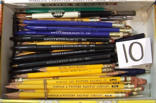 10: Norfolk & Western Pens and Pencils.