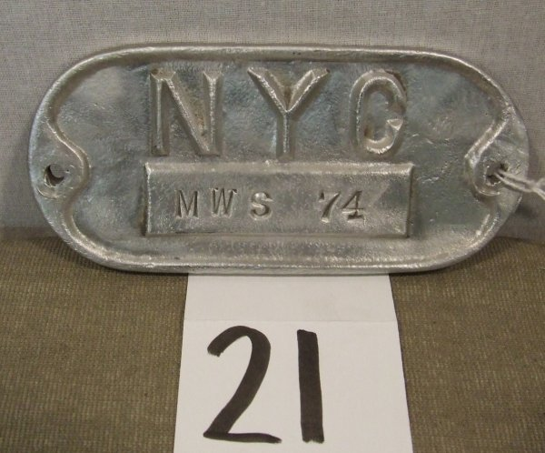 21: New York Central Metal Plaque
