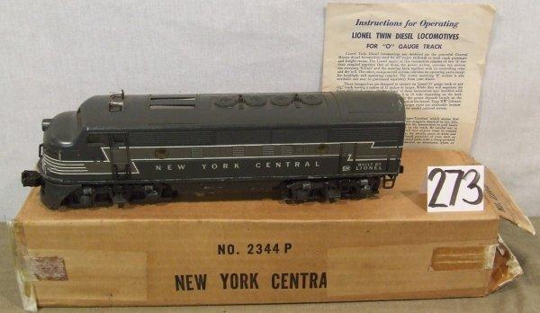 "273: Lionel Locomotive #2344P ""New York Central"""