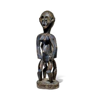 Metoko Janus Male and Female Standing Figure,