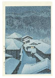 Kawase Hasui (1883-1957) Showa (1926-1989) era, dated