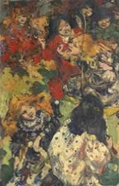 Edward Atkinson Hornel (1864-1933) Skipping 61 x 40.7