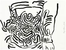 Keith Haring (1958-1990); Untitled, from Bad Boys;