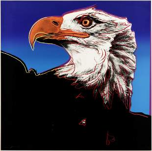 Andy Warhol (1928-1987); Bald Eagle, from Endangered