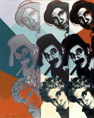 Andy Warhol (1928-1987); Marx Brothers, from Ten