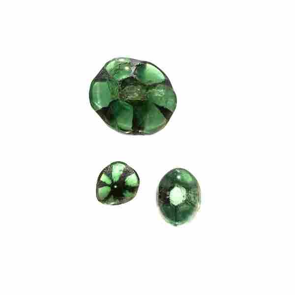 Three Trapiche Emeralds