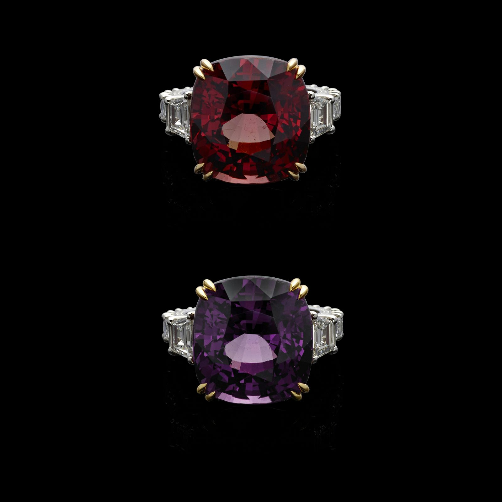 Rare and Exceptional Color-change Pyrope-spessartine