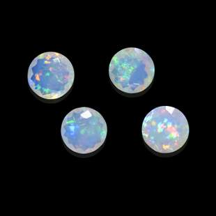 Four Faceted Crystal Opals