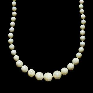 White Opal Bead Necklace