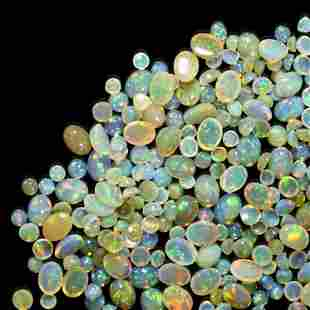Group of Small Crystal Opal Cabochons